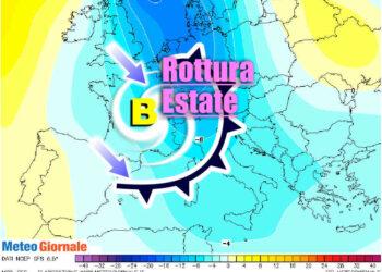 meteo con rottura estate dopo ferragosto 350x250 - La BURRASCA perfetta nei primi di Luglio. Lo dice anche il Centro Meteo europeo