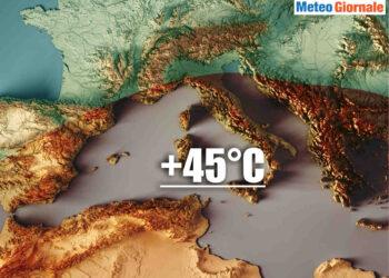 meteo estemo con temperature anche oltre 45 gradi in italia 350x250 - Meteo Italia sino al 20 luglio, super CALDO africano alle porte