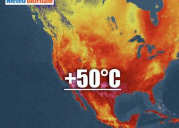 meteo nord america 350x250 - Stati Uniti occidentali in una cappa di caldo record