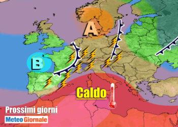 meteogiornale 7 g 15 350x250 - METEO sino 10 Luglio:  Temporali Sud, poi torna il CALDO Anticiclone d'Africa