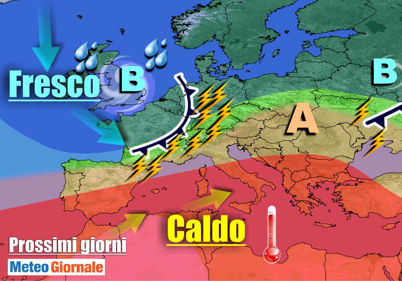 meteogiornale 7 g 27 - METEO Italia: la vera ESTATE ci lascia arriva BURRASCA a suon di forti TEMPORALI