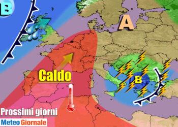 meteogiornale 7 g 6 350x250 - TEMPORALI e brusco CALO TERMICO dilagano sull'Italia, l'ESTATE si FERMA
