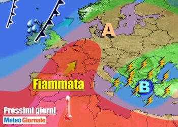 meteogiornale 7 g 7 350x250 - TEMPORALI e brusco CALO TERMICO dilagano sull'Italia, l'ESTATE si FERMA