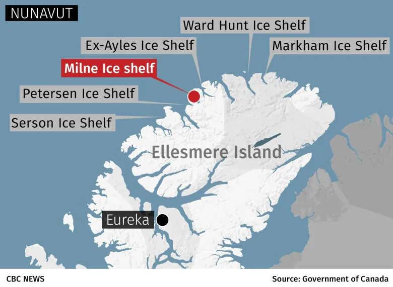 milne - TROPPO CALDO nell'Artico, COLLASSA un'enorme calotta di ghiaccio