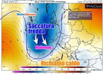autunno 1 350x250 - Meteo prossima settimana: perturbazioni all'assalto contro Alta Pressione