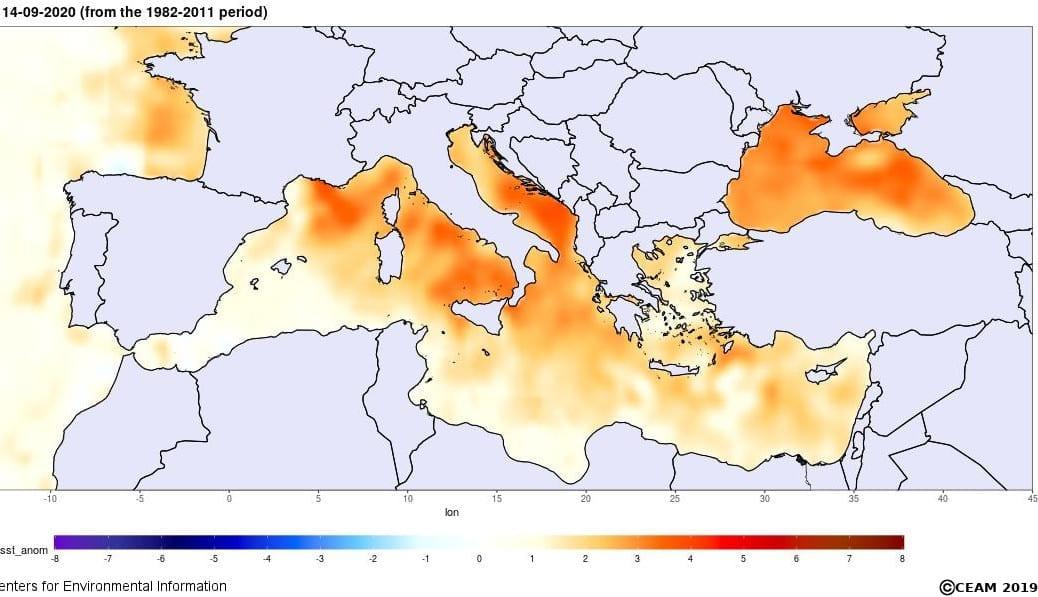 caldo medit - Mar Mediterraneo è CALDISSIMO, ecco perché sta per esplodere un URAGANO