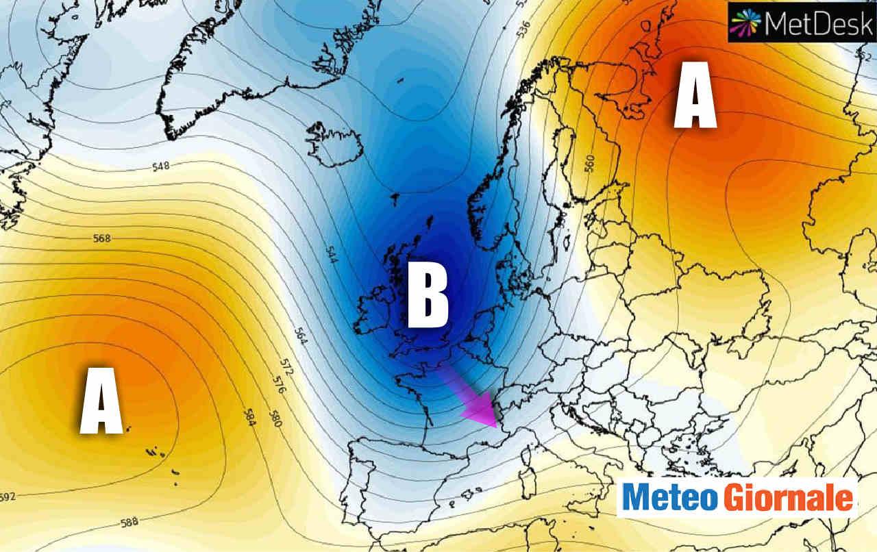 depressione atlantica - Cosa sta succedendo in Europa e perché arriverà il FREDDO