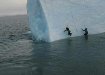 iceberg 350x250 - VIDEO incredibile. Ecco come finisce il tentativo di scalata di un ICEBERG