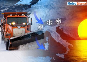 Inverno precoce su italia terra di mezzo tra diversissime masse d'aria.