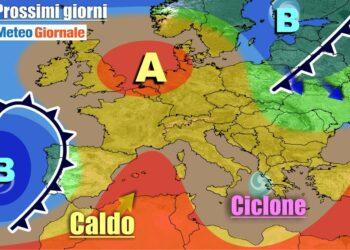 meteogiornale 7 g 15 350x250 - METEO Weekend dal SOLE e CALDO anteprima di BURRASCA e TEMPORALI