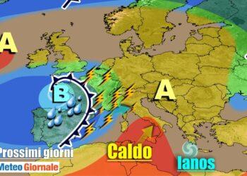 meteogiornale 7 g 17 350x250 - METEO Weekend dal SOLE e CALDO anteprima di BURRASCA e TEMPORALI