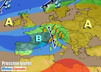 meteogiornale 7 g 19 350x250 - METEO Weekend dal SOLE e CALDO anteprima di BURRASCA e TEMPORALI