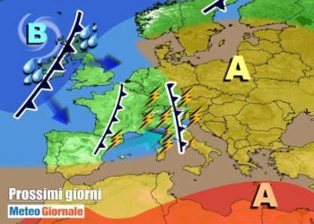 meteogiornale 7 g 20 350x250 - Meteo prossima settimana: perturbazioni all'assalto contro Alta Pressione