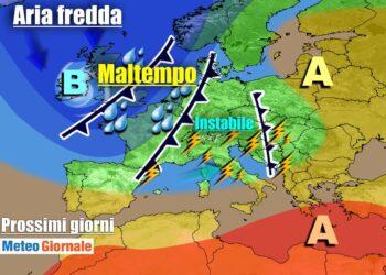 meteogiornale 7 g 21 350x250 - METEO Weekend dal SOLE e CALDO anteprima di BURRASCA e TEMPORALI