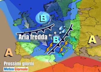 meteogiornale 7 g 23 350x250 - Burrasca di vento nel weekend, raffiche oltre 100 orari e super mareggiate