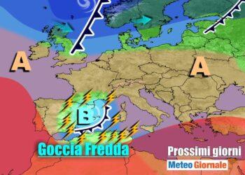 meteogiornale 7 g 6 350x250 - METEO 7 Giorni: insidioso vortice mediterraneo, TEMPORALI su parte d'Italia
