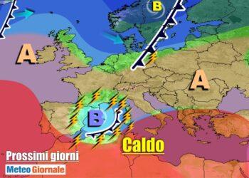 meteogiornale 7 g 7 350x250 - METEO 7 Giorni: insidioso vortice mediterraneo, TEMPORALI su parte d'Italia