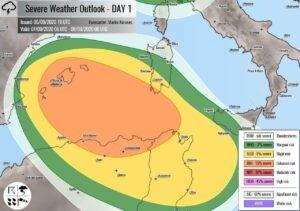 rischio maltempo 300x211 - Lunedì da INCUBO nel Mediterraneo sudoccidentale: possibile CICLONE