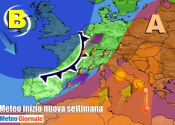 settimana 350x250 - METEO Weekend dal SOLE e CALDO anteprima di BURRASCA e TEMPORALI
