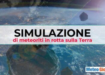 simulazione meteoriti 350x250 - La minaccia che viene dal cielo