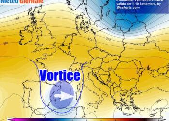 vortice 2 350x250 - METEO Weekend dal SOLE e CALDO anteprima di BURRASCA e TEMPORALI