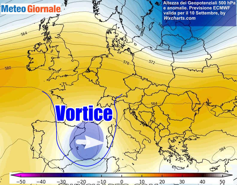 vortice 2 - Meteo domani: TEMPORALI in arrivo, VORTICE ciclonico prova a sfondare