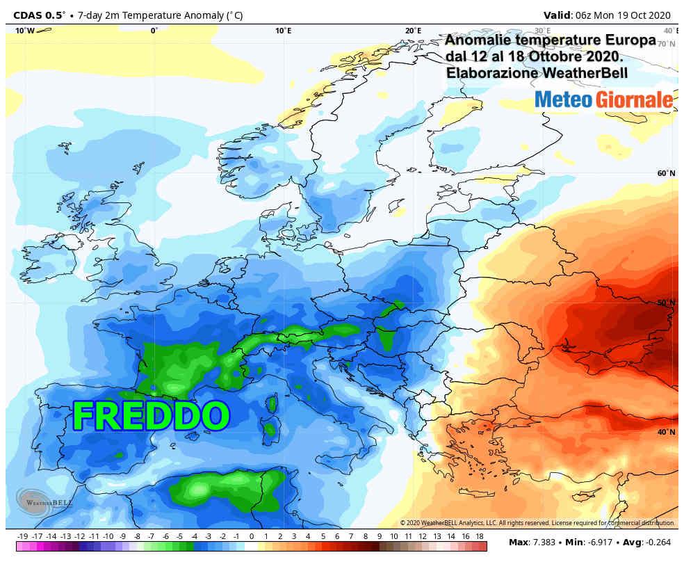 anomalie termiche europa - Focus Europa: è ribaltone dal FREDDO INVERNALE al CALDO ANOMALO
