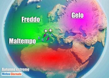 Masse d'aria in movimento verso lo scenario europeo: gelo dalla Siberia. Aria artica, aria oceanica. In Italia avrà un ruolo non trascurabile il caldo del Sahara e delle acque del Mar Mediterraneo.