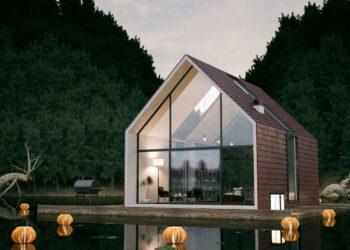 casa di legno vetro