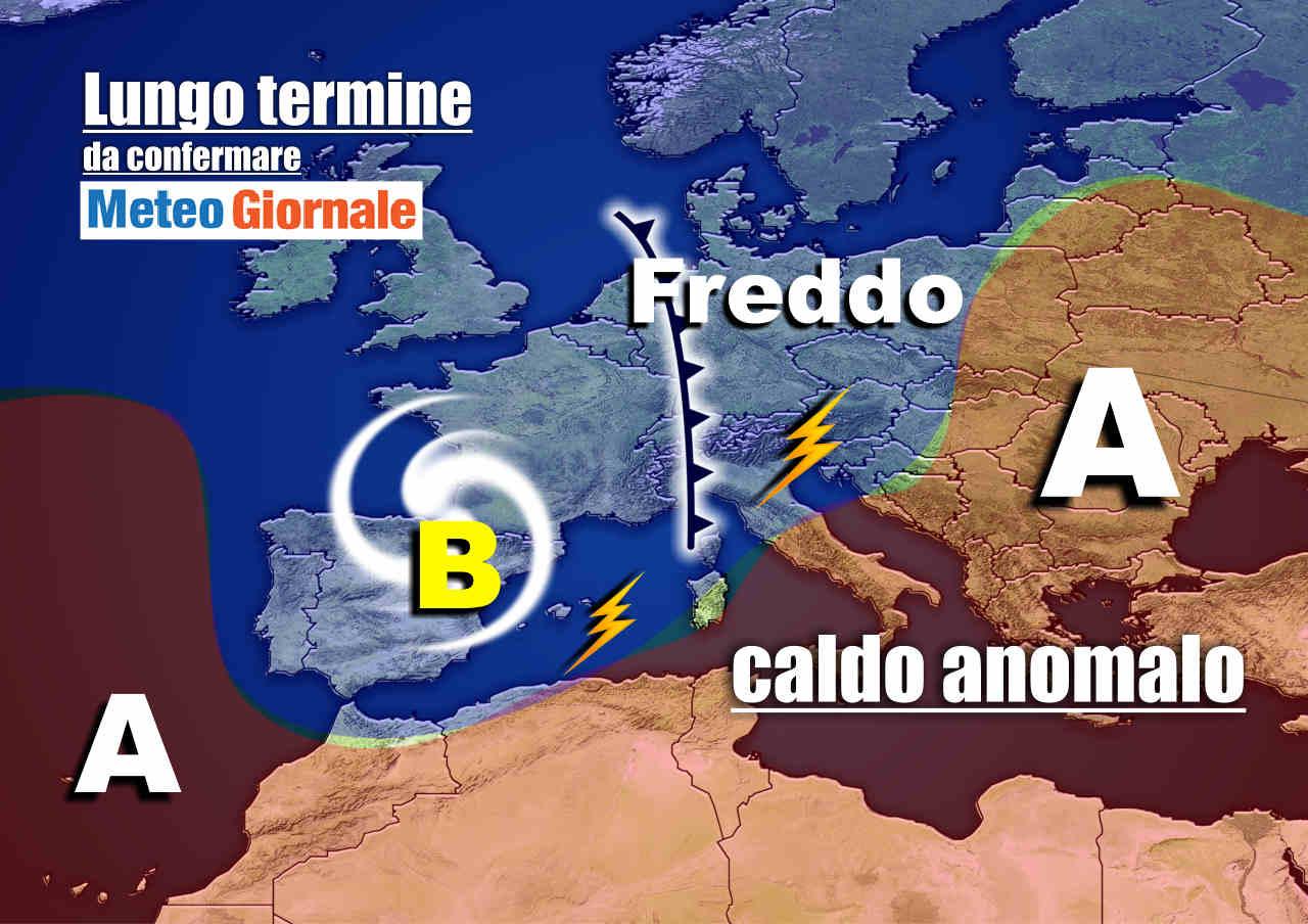 meteo 27 ottobre - Meteo Italia nel lungo termine: CALDO, ma poi brutto e ancora FREDDO