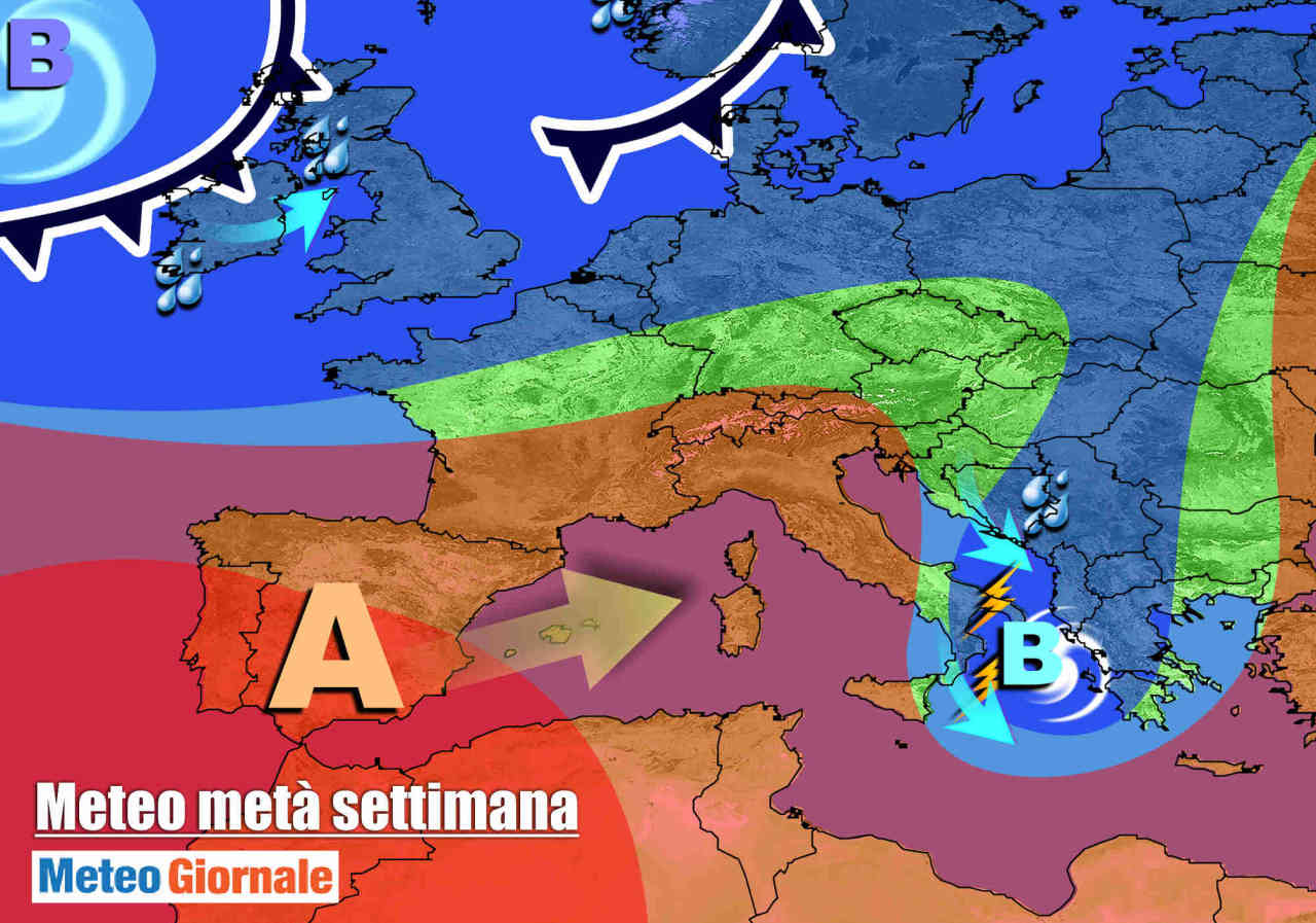 meteo 28 ottobre 1 - METEO: ultime piogge, sta arrivando un POTENTE ANTICICLONE