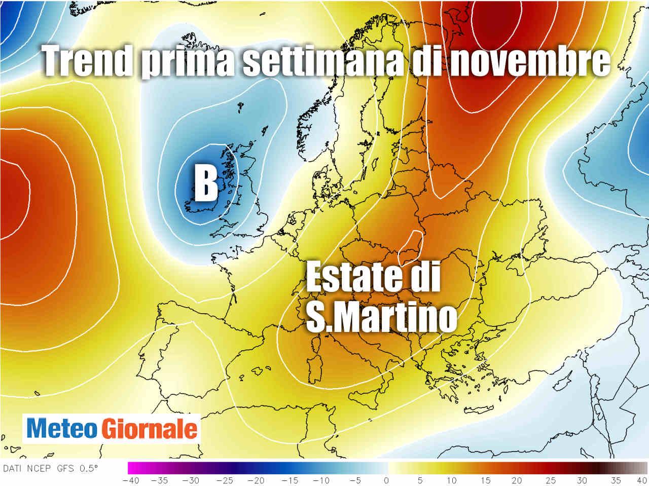 meteo novembre 1 - Meteo Ognissanti, come al solito ANTICICLONE. Caldo o mite vedremo