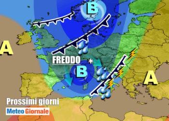 Previsioni meteo inizio settimana
