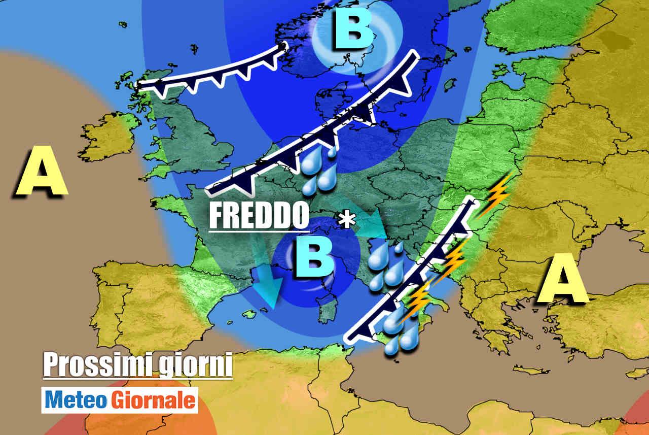meteogiornale 7 g 10 - METEO 7 Giorni: l'Autunno si tramuta d'Inverno sui monti con la neve. Temporali, piogge, vento ovunque