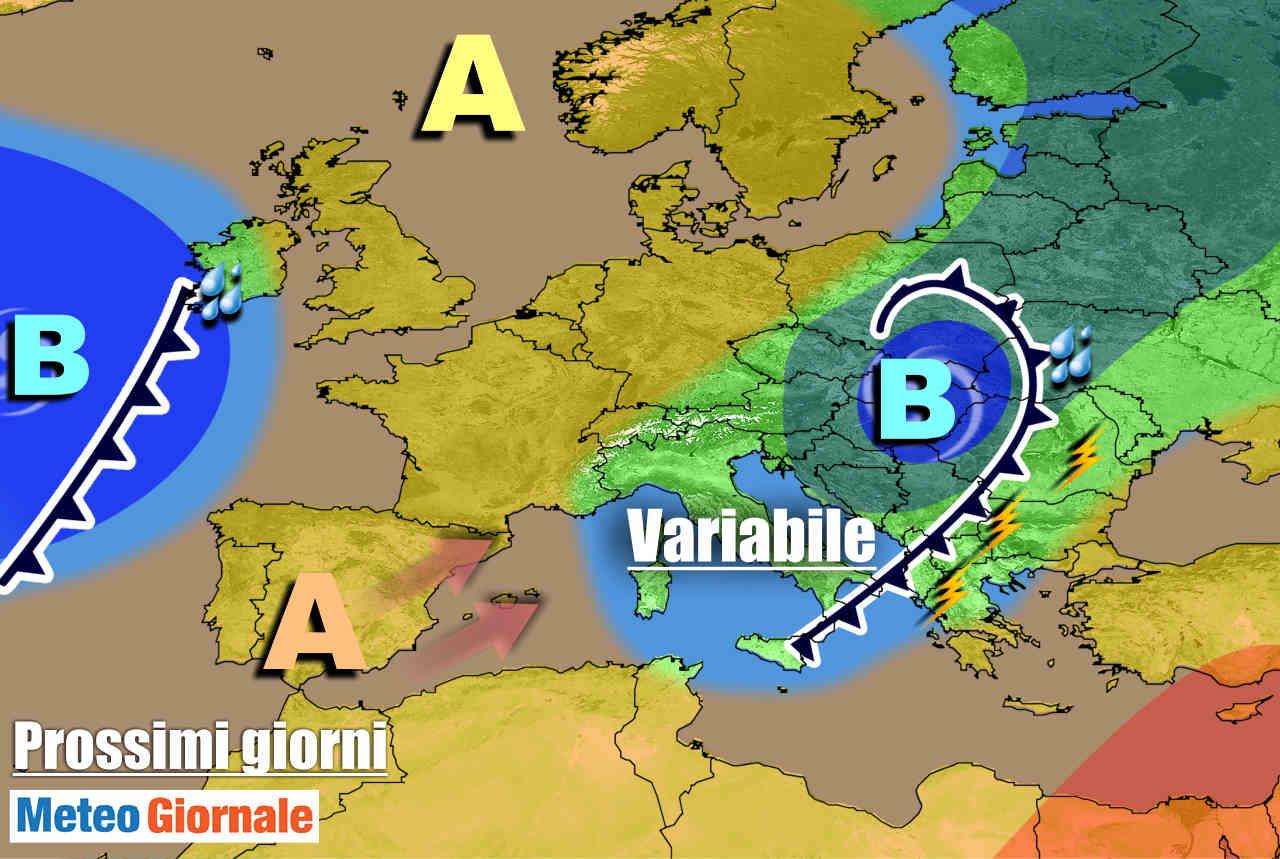 meteogiornale 7 g 16 - METEO 7 Giorni: MALTEMPO agli sgoccioli, farà CALDO la prossima settimana