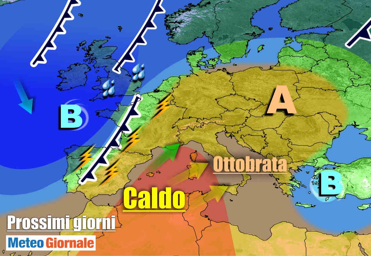 meteogiornale 7 g 20 - METEO Italia. Arrivata l'OTTOBRATA, ecco fino a quando durerà
