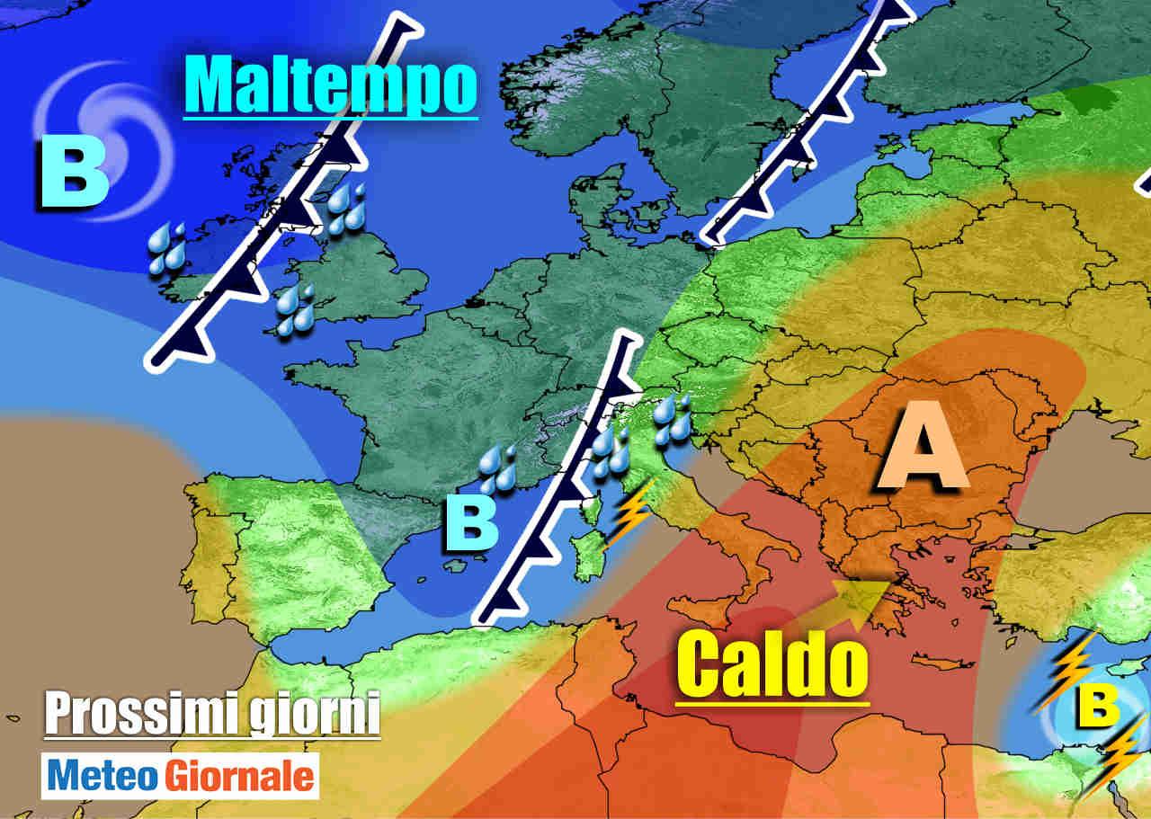 meteogiornale 7 g 24 - METEO 7 Giorni. ANTICICLONE agli sgoccioli, ritorna la PIOGGIA. Previsioni