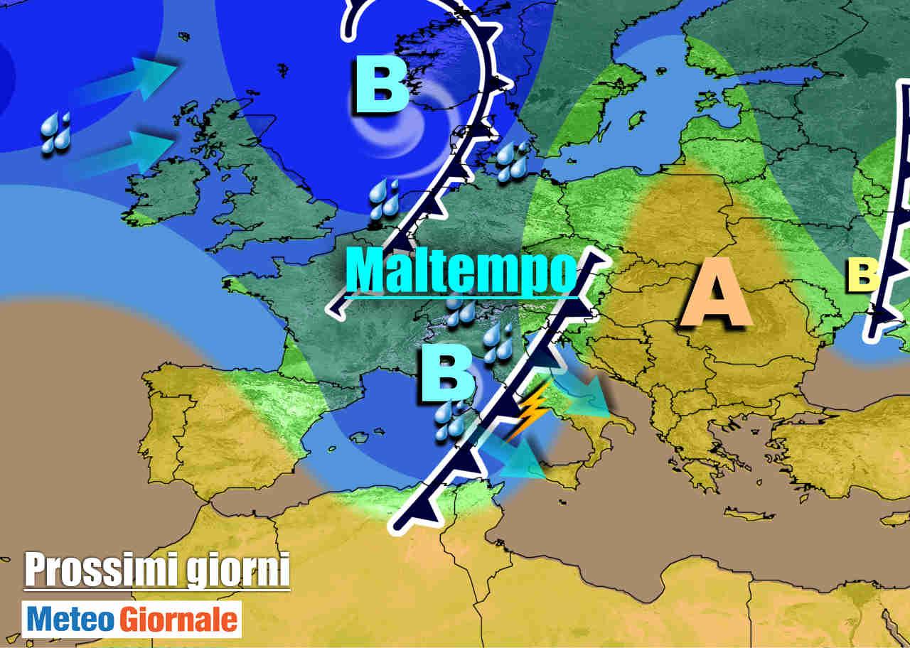 meteogiornale 7 g 27 - METEO 7 Giorni. Nuova settimana inizia col MALTEMPO, poi CAMBIA TUTTO