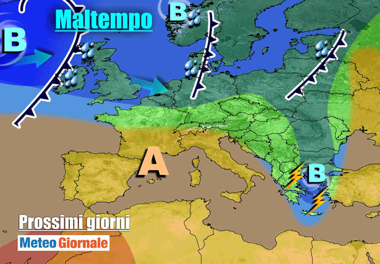 meteogiornale 7 g 29 - METEO fino a inizio novembre. Torna l'ANTICICLONE AFRICANO sull'Italia