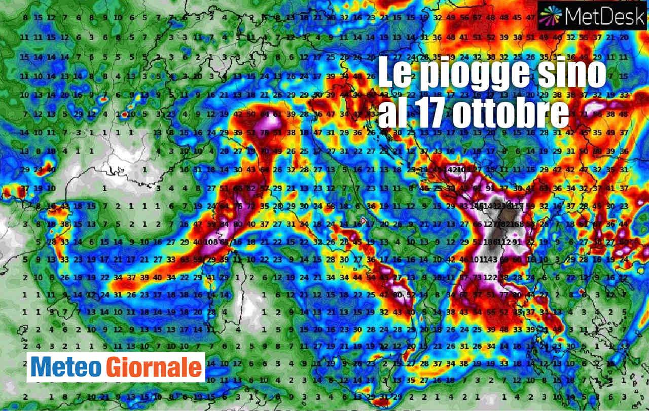 piogge sino a sabato - Mercoledì nuovamente rischio NUBIFRAGI: ecco su quali regioni