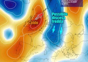 Sul lungo termine canale d'aria fredda dal Baltico verso l'Italia