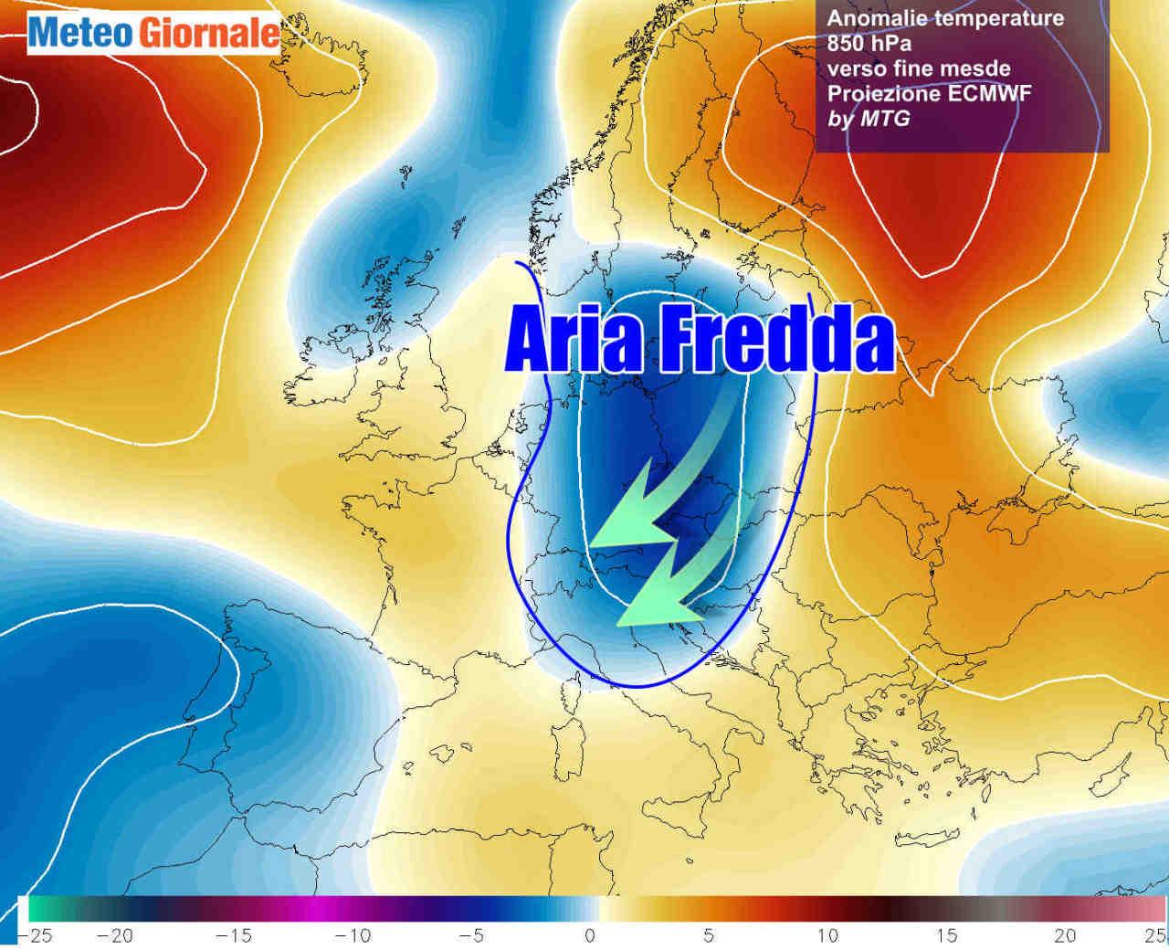 freddo fine novembre - NOVITA' meteo, ancora FREDDO in rotta sull'Italia già a fine Novembre