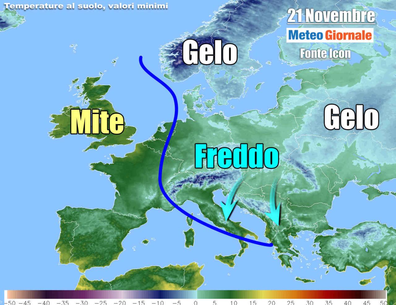 freddo weekend - METEO, primo FREDDO invernale è in arrivo. Temperature in picchiata
