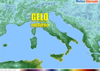 Gelate notturne previste nei prossimi giorni in varie località. Meteo invernale. Temperature.