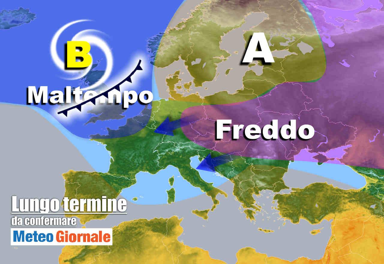meteo 13 novembre - Meteo Italia nel lungo termine: stop Anticiclone, arriverà il FREDDO