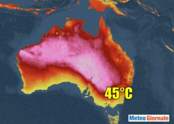 Meteo Australia con ondata di caldo record.