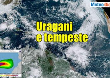 Tempeste tropicali e uragani in Atlantico.