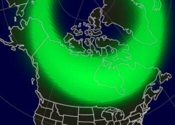 aurora boreale della notte del 10 dicembre 2020 causata dalla tempesta solare