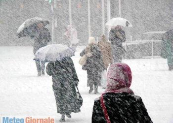 Bufera di neve, immagine di repertorio