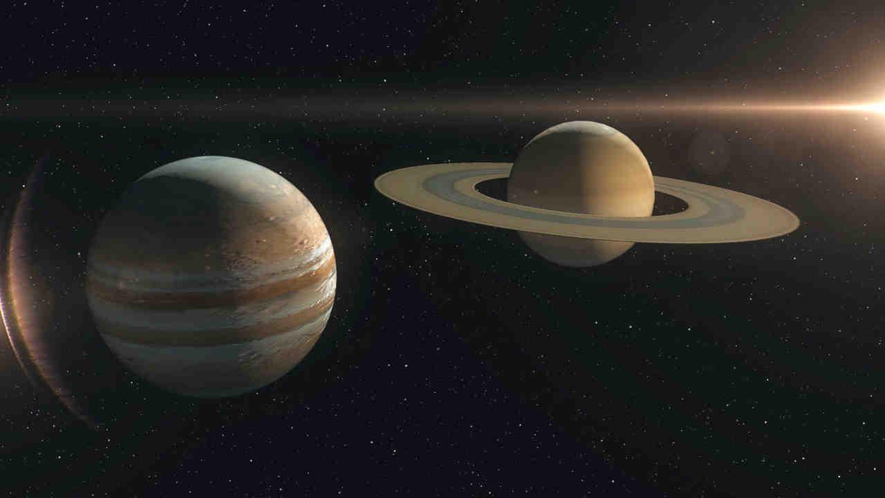 jupiter saturn - Abbraccio Giove-Saturno, le immagini video del magico evento in time lapse